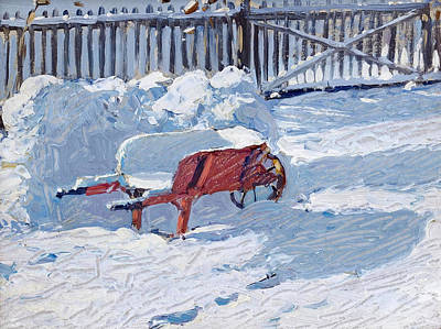 Snow Fort Painting - The Snow Fort by James Edward Hervey MacDonald