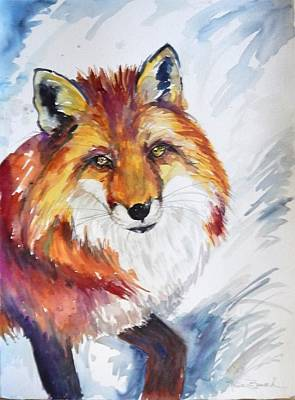 Painting - The Snow Fox by P Maure Bausch