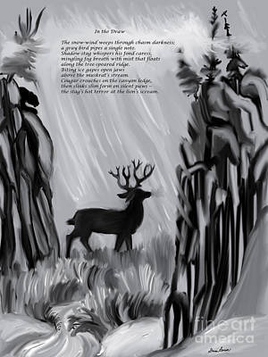 Digital Art - The Snow-wind Weeps - Illustrated Poem Age 17 by Dawn Senior-Trask