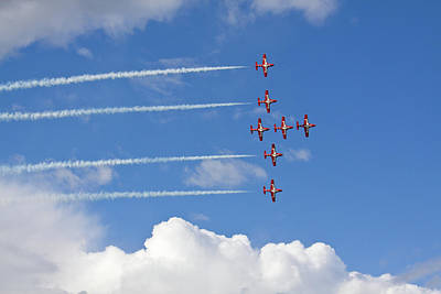 Photograph - The Snowbirds In Flight by Tatiana Travelways