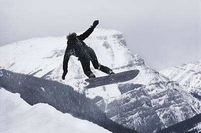The Snowboard Championships Were Held Print by George F. Mobley
