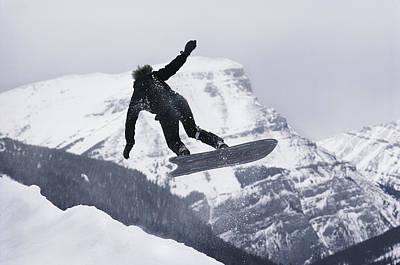 The Snowboard Championships Were Held Art Print