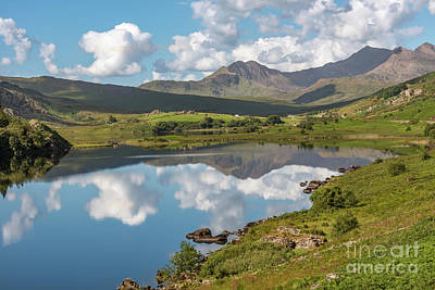 Bank Clouds Hills Photograph - The Snowdon Horseshoe by Adrian Evans
