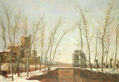 Falling Snow Painting - The Snowfall by Salomon Rombouts