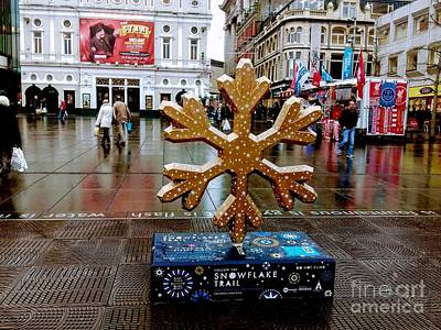 Photograph - The Snowflake Trail Gold by Joan-Violet Stretch