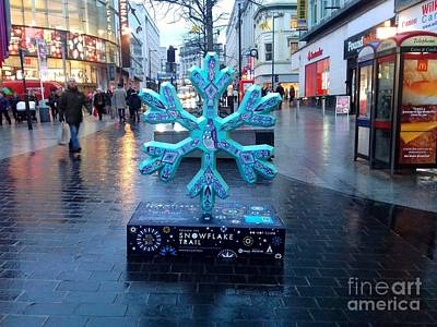 Photograph - The Snowflake Trail Ice Blue by Joan-Violet Stretch