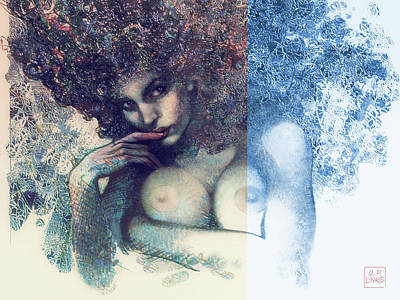 Mixed Media - The Snowqueen by Udo Linke