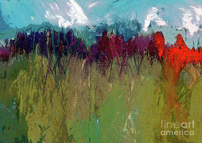 Digital Art - The Snowy Mountain In Spring Painting     by Lisa Kaiser
