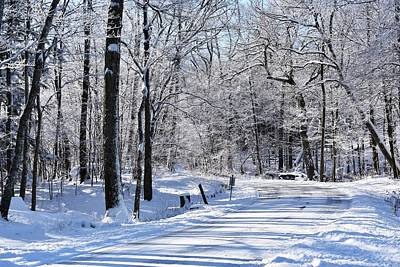 Photograph - The Snowy Road 1 by Nina Kindred