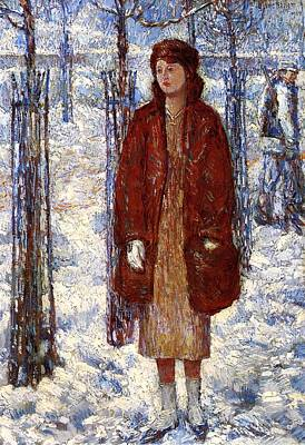 1910s Painting - The Snowy Winter Of 1918 by Mountain Dreams