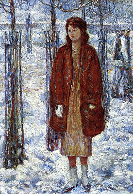 1910s Painting - The Snowy Winter Of 1918 N Y C by Childe Hassam