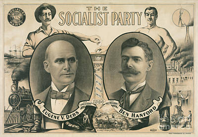 Unity Drawing - The Socialist Party Presidential Ticket Of 1904 by American School