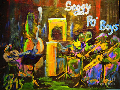 Painting - The Soggy Po Boys by Francois Lamothe