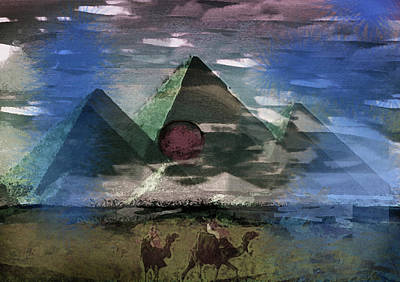 Donkey Mixed Media - The Sojourners  by Paul Sutcliffe