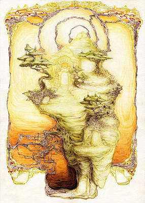Entrance Door Drawing - The Solar Gateway by Outrega Anderson