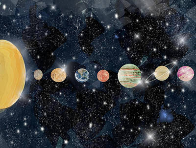 Painting - The Solar System by Bleu Bri