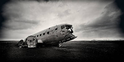 Transportation Royalty-Free and Rights-Managed Images - The Solheimsandur Plane Wreck by Tor-Ivar Naess