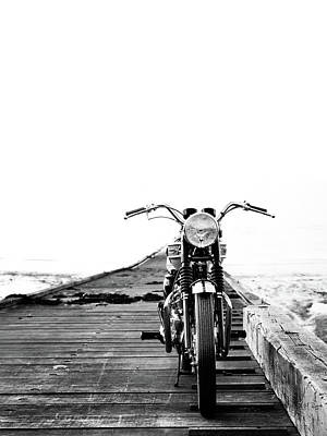 Triumph Bonneville Photograph - The Solo Mount by Mark Rogan