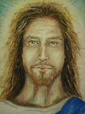 Oil Pastel Painting - The Son by Agnes V