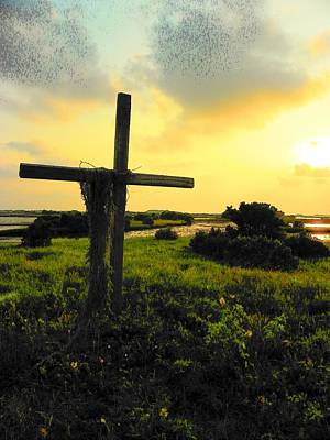 Christain Cross Photograph - The Son And Sunset by Sheri McLeroy