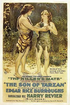 The Son Of Tarzan - The Killer's Mate 1921 Art Print by Mountain Dreams