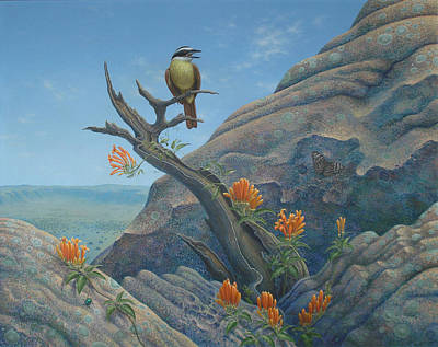 Painting - The Song Of The Bem Te Vi Bird by Tuco Amalfi