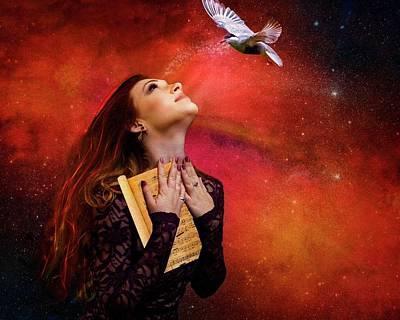 Digital Art -  The Song Seeker by Terry Fleckney