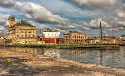 Wall Art - Photograph - Sault Ste Marie Michigan The Soo Locks by J Thomas