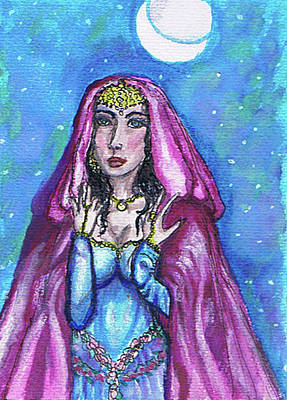 Painting - The Sorceress by Janice T Keller-Kimball