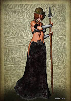 Digital Art - The Sorceress Mage by Ken Morris