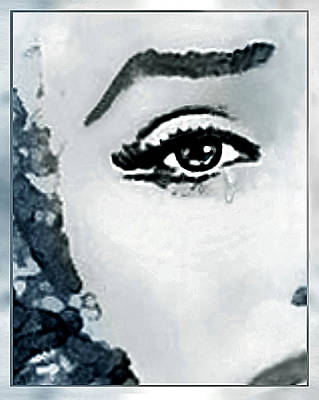 Drawing - The Sorrow Of Marilyn  by Hartmut Jager