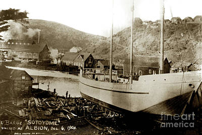 Photograph - The Sotoyome Was Built On The Albion River And Launched On Decem by California Views Mr Pat Hathaway Archives