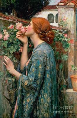 Portrait Of Woman Painting - The Soul Of The Rose by John William Waterhouse