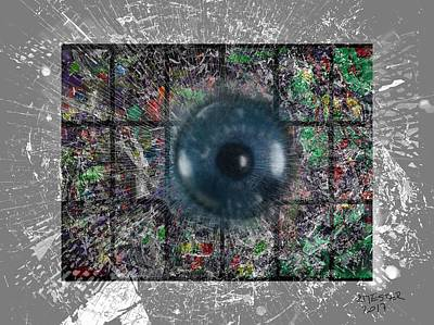Abstract Sights Mixed Media - The Soul Window by Ricardo Mester