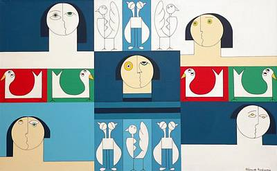 The Sound Of Birds Art Print by Hildegarde Handsaeme