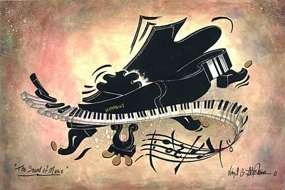 Virgil C Stephens Painting - The Sound Of Music by Virgil Stephens