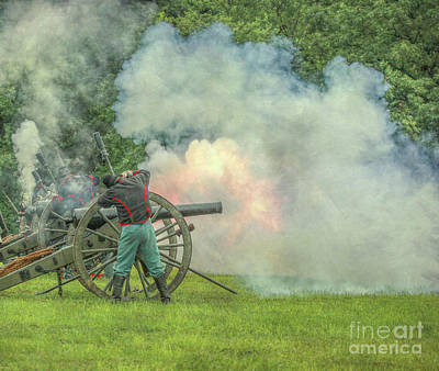 Artillery Digital Art - The Sound Of The Cannon by Randy Steele
