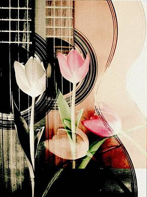 Tulips Mixed Media - The Sound Of Two by Priscilla Huber