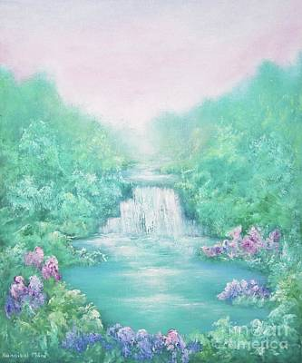 Waterfalls Painting - The Sound Of Water by Hannibal Mane