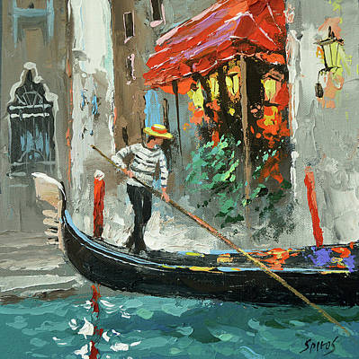 Painting - The Sounds Of A Barcarolle by Dmitry Spiros