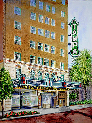 Painting - The Sounds Of Music, Historic Tampa Theatre by Roxanne Tobaison