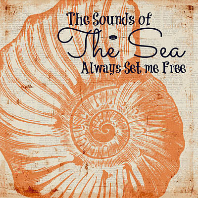 The Sounds Of The Sea Always Set Me Free Art Print by Brandi Fitzgerald