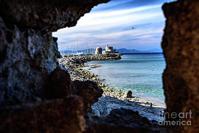 Photograph - The South Agean Sea From Rhodes Town, Rhodes, Greece by Global Light Photography - Nicole Leffer
