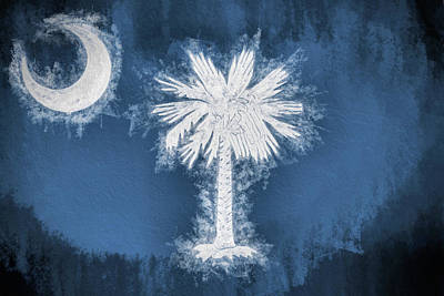 The South Digital Art - The South Carolina Flag by JC Findley