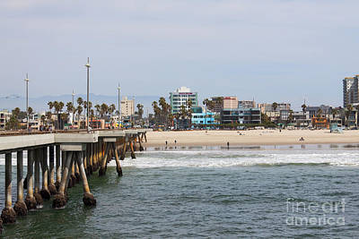 Venice Beach Photograph - The South View Venice Beach Pier by Ana V Ramirez