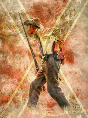 Digital Art - The South Will Rise Again Ver II by Randy Steele