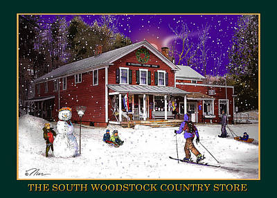 Photograph - The South Woodstock Country Store by Nancy Griswold