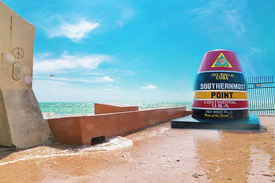 Conch Photograph - The Southern Most Point Key West Florida by Betsy Knapp