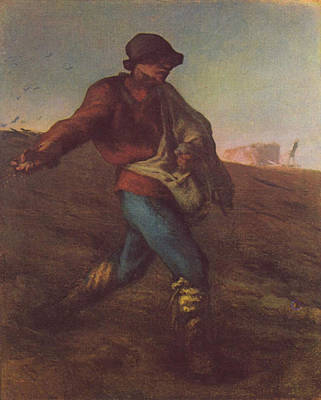 Painting - The Sower by Jean Francois Millet