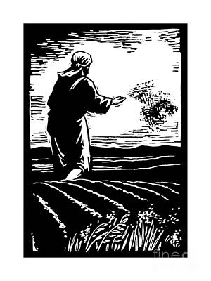 Painting - The Sower - Jlsow by Julie Lonneman